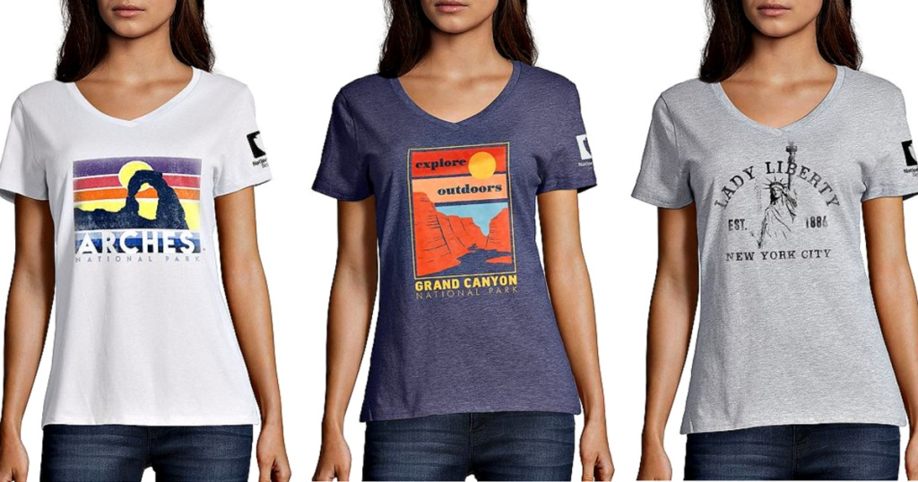 Hanes Women's Graphic Tees on models