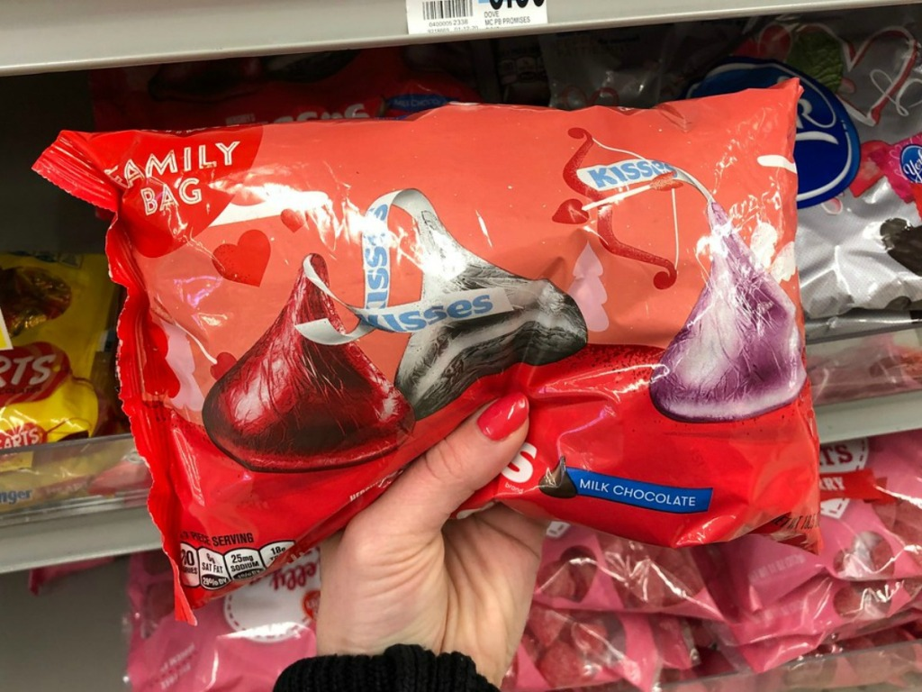 Large bag of Hershey's kisses