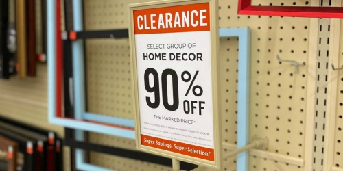 90% Off Home Decor Clearance at Hobby Lobby