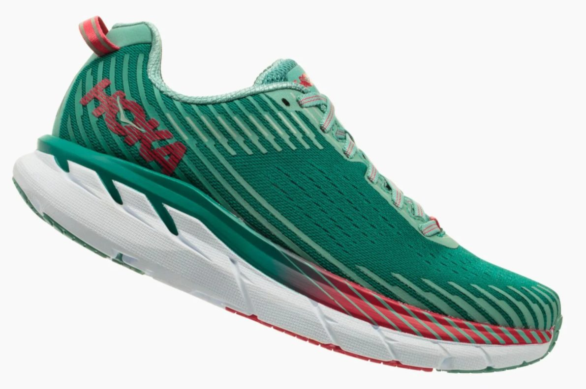 Green running shoe