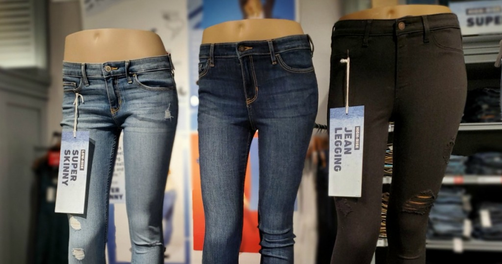 mannequins with jeans on