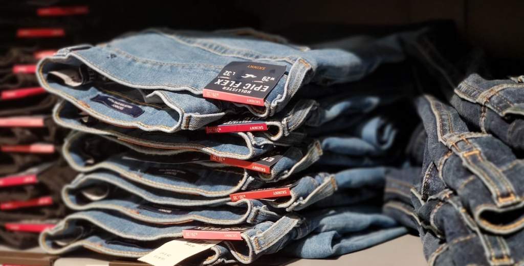 stack of Hollister Men's Jeans
