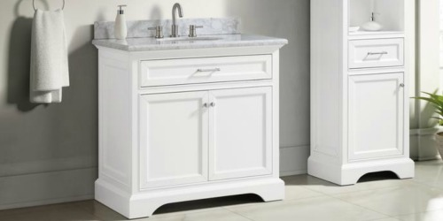 Up to 50% Off Bathroom Vanities + Free Shipping