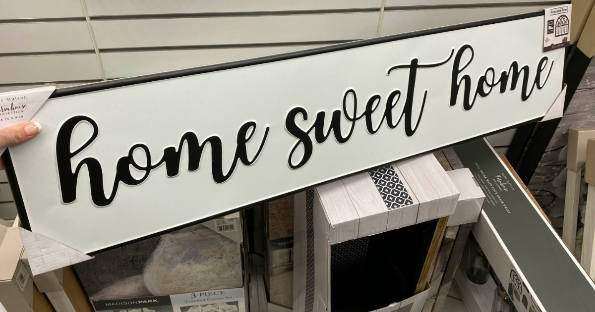 home sweet home sign on shelf at Kohl's