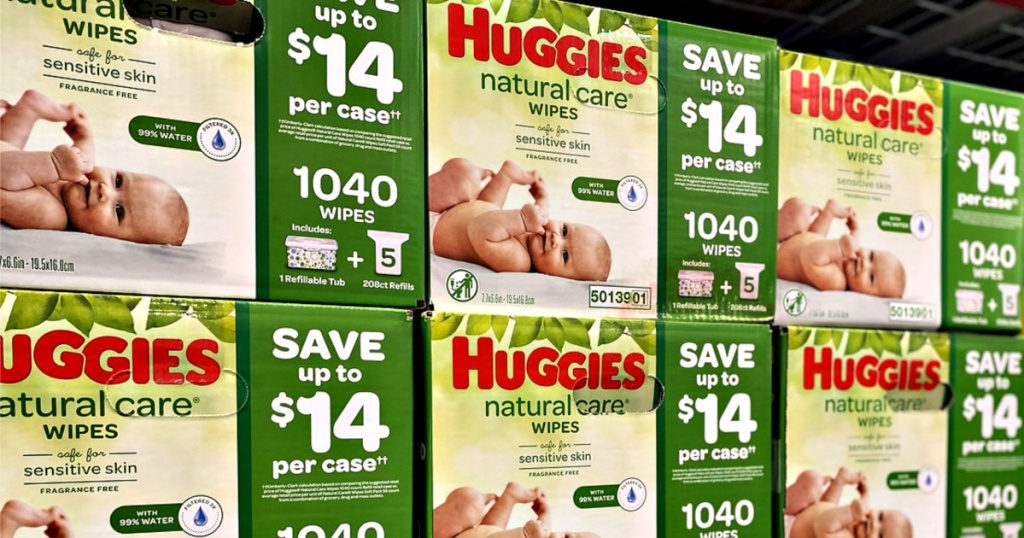 Huggies Natural Care 1,040-Count Wipes