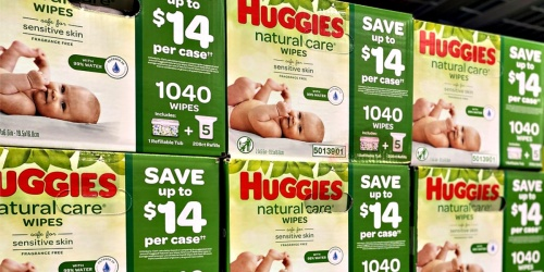 Huggies Natural Care 1,040-Count Wipes Only $18.98 Shipped at Sam's Club