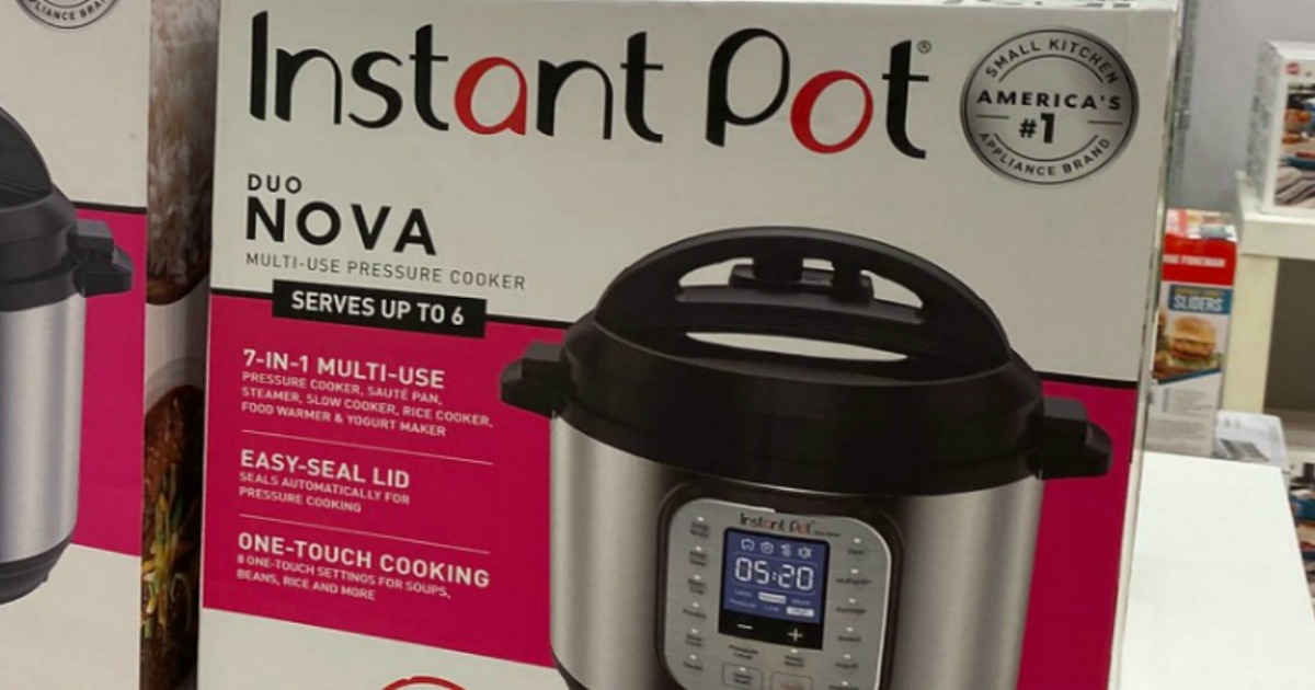 Instant Pot Duo Nova box on shelf