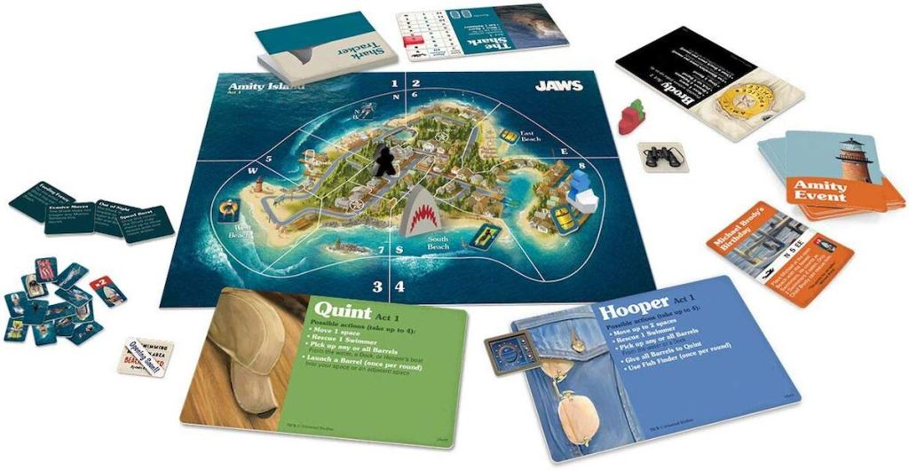 Jaws game board and pieces