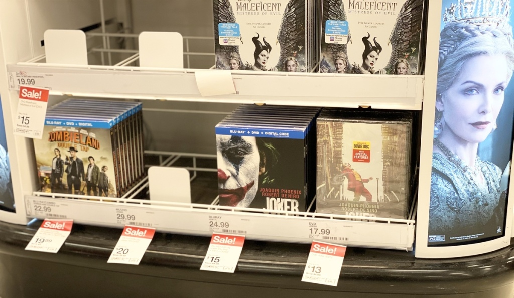Joker, Zombieland, and Magnificent at Target