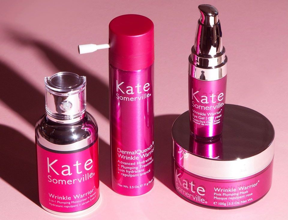 Kate Somerville Wrinkle Warrior products in a row