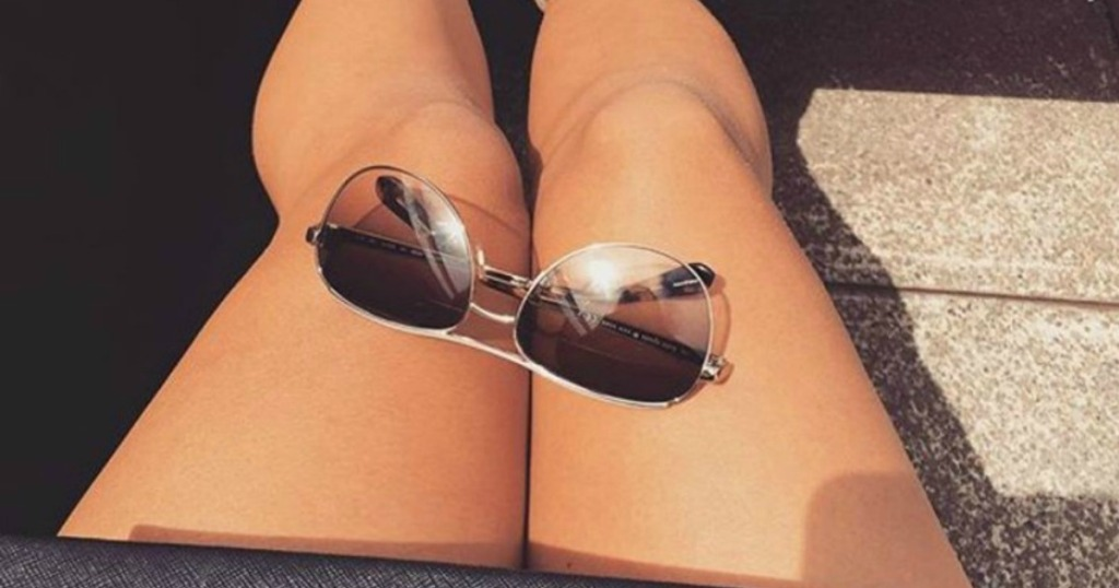 Kate Spade Amarissa Glasses on woman's legs