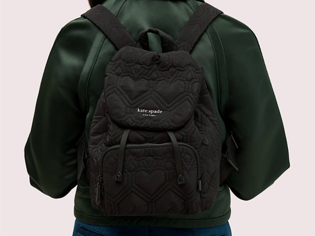 Kate Spade Small Backpack on teen's back