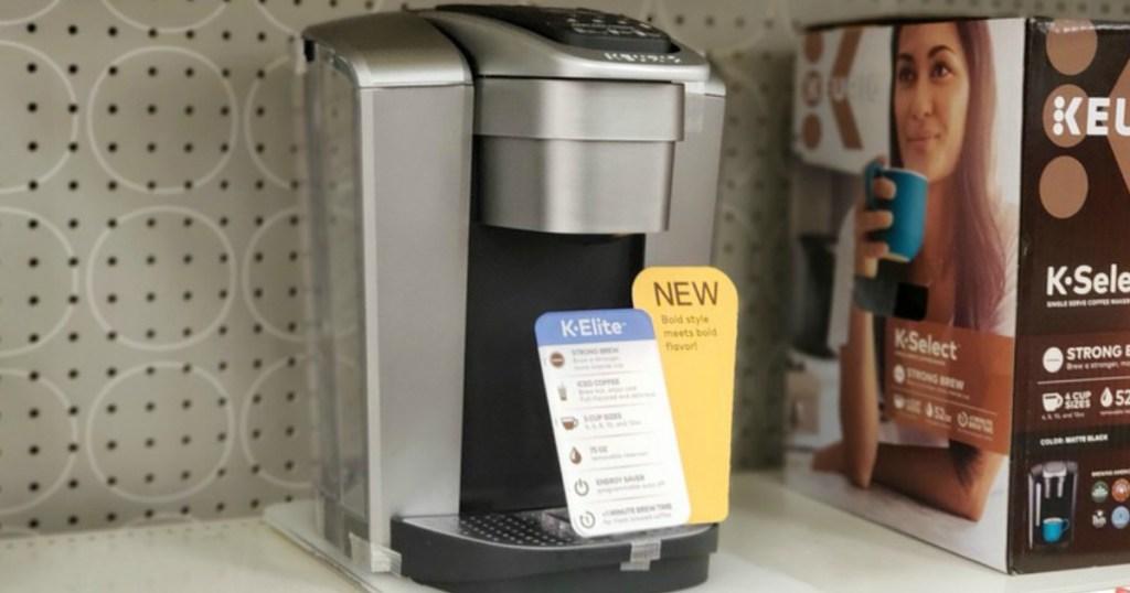 Keurig coffee brewer on display in-store