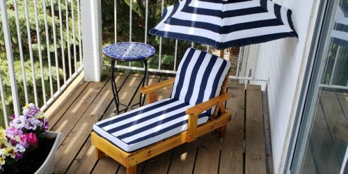 KidKraft Outdoor Chaise Lounger with Umbrella Only $59.99 Shipped (Regularly $120)