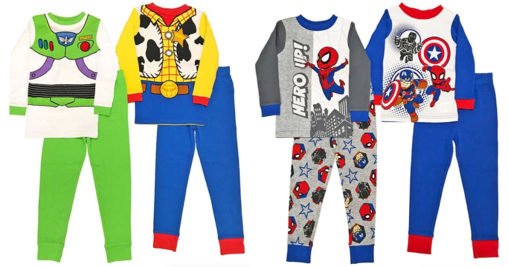 Toy Story and Spiderman 4-Piece Pajama Set