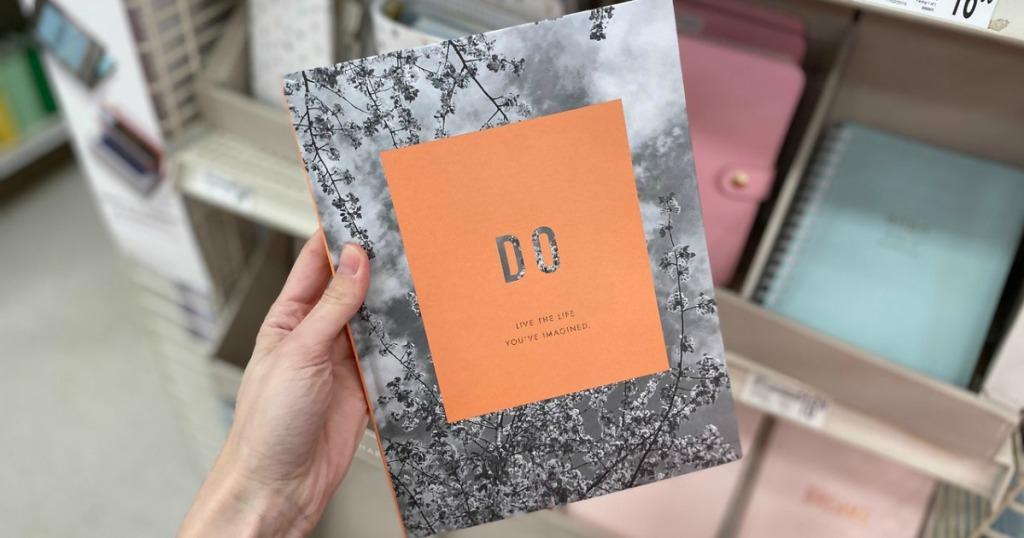 hand holding Kikki K Do Journal in store
