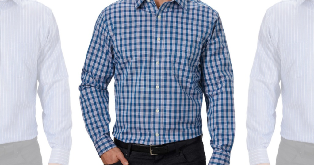 Men's blue dress shirts