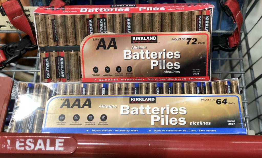 store brand Kirkland Signature batteries