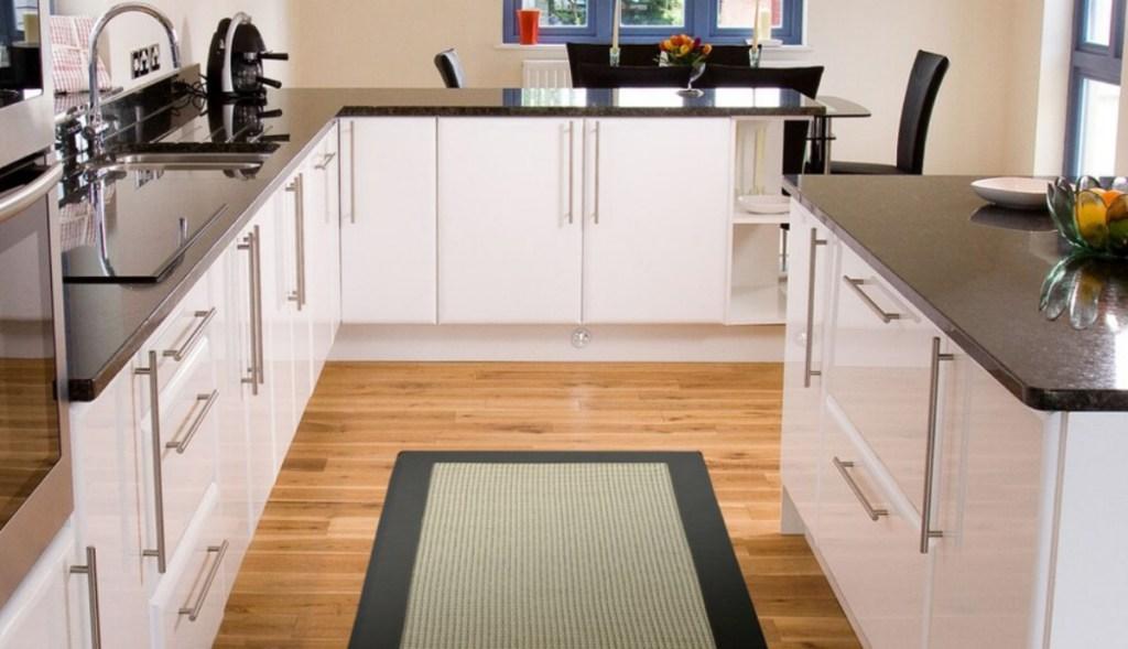 Kohl's rug in kitchen
