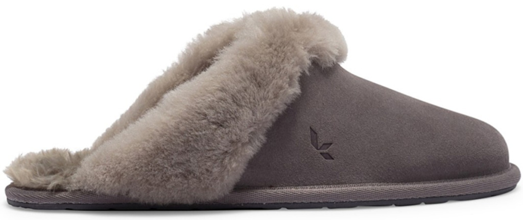 grey ugg slippers with grey fur lining