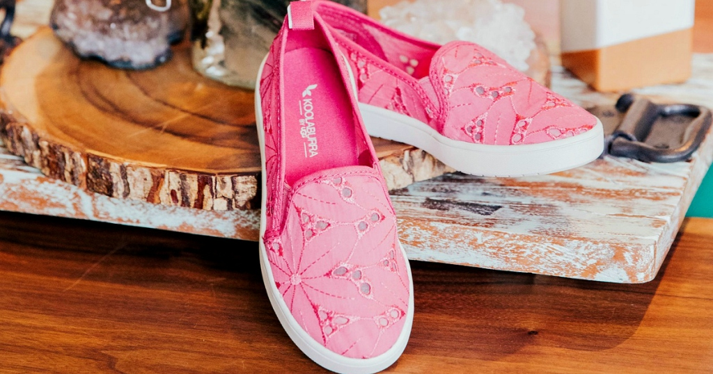 pink Koolaburra by Ugg slip ons