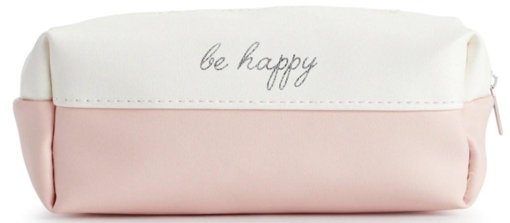 "LC Lauren Conrad ""Be Happy"" Travel Pouch"
