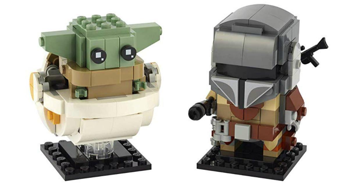 LEGO baby yoda and mandalorian figurines