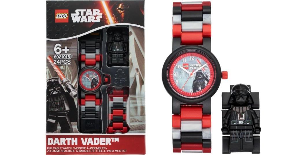 LEGO Darth Vadar watch and box