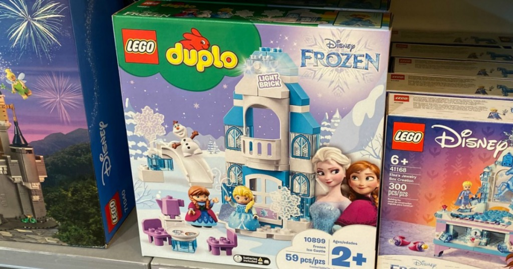 Large LEGO set in package on display on store shelf