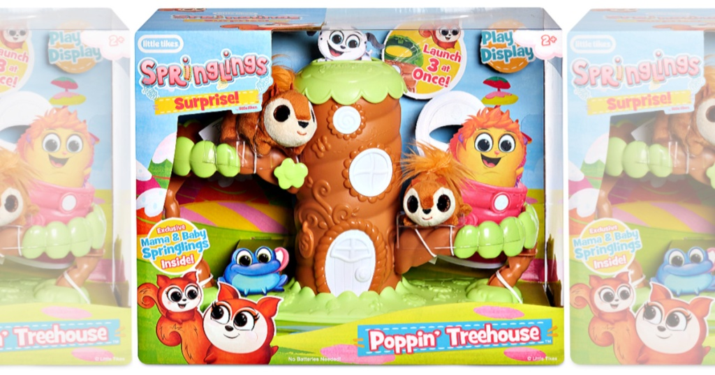 Little Tikes Springlings Surprise Poppin' Treehouse Set