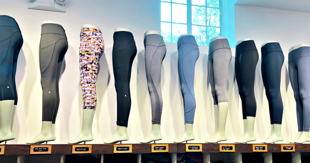 Lululemon Store with leggings on mannequins
