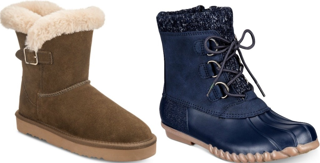 two pairs of winter boots