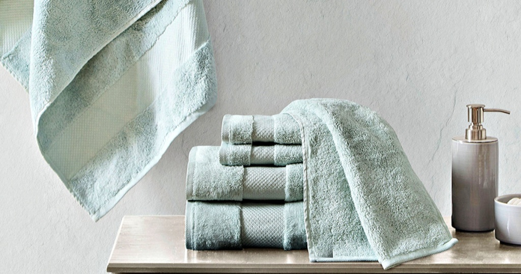 Madison Park Signature Turkish Cotton 6-Piece Solid Bath Towel Set