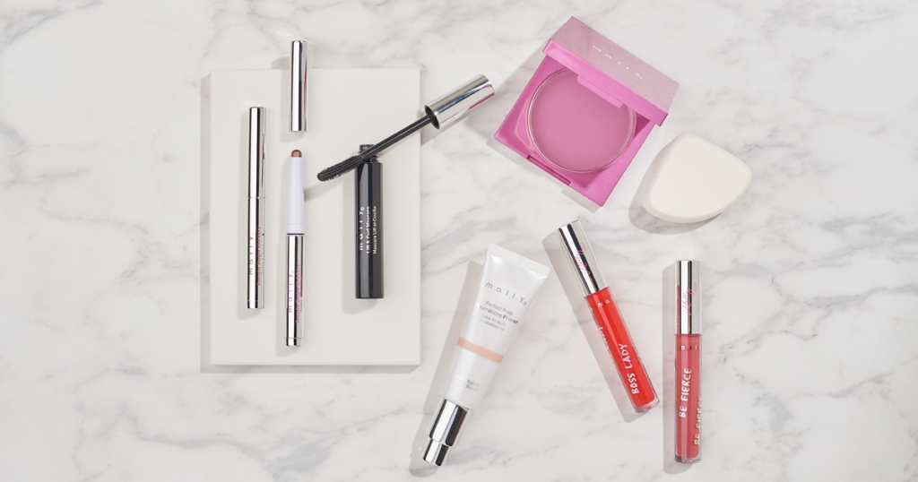 Mally Cosmetics on counter