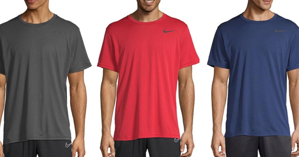 men wearing Nike t-shirts
