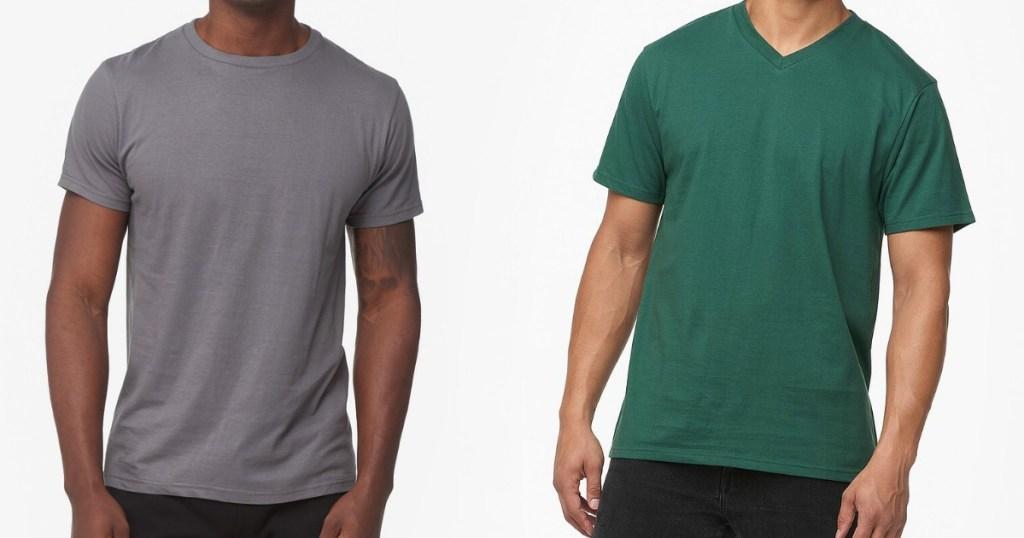 two men wearing t-shirts