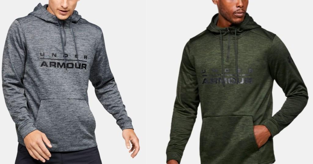 grey and green Men's Under Armour Fleece zip up