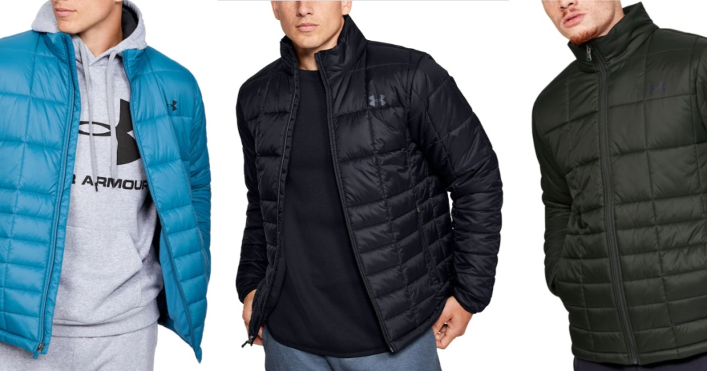 Men wearing Under Armour Insulated Jackets