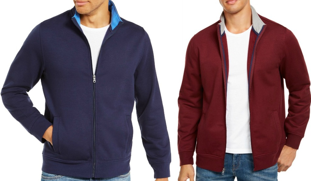 Men's Zip up jackets in two colors - blue and maroon