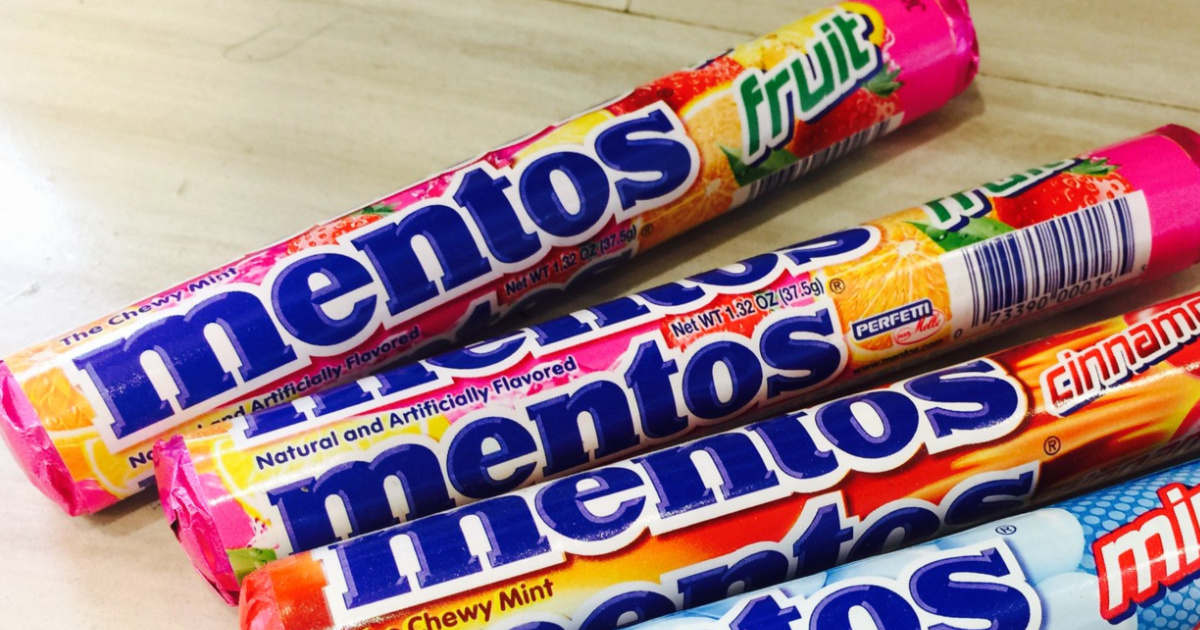 Mento Candy Lined up