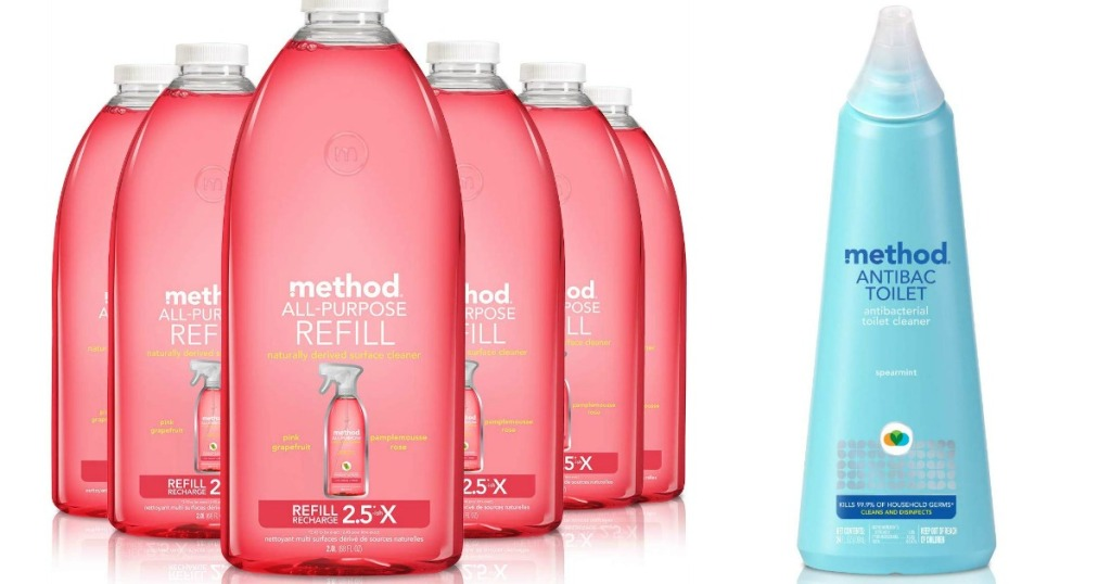 row of method cleaning products