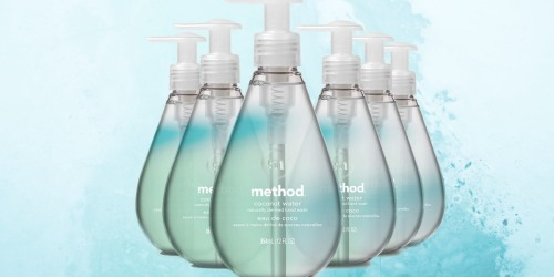 Method Gel Coconut Water Hand Wash 6-Pack Only $11.89 Shipped or Less on Amazon | Just $1.98 Per Bottle