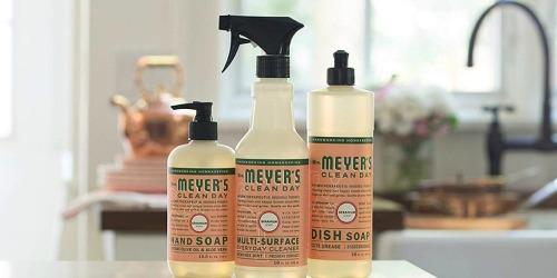Mrs. Meyer's Kitchen Sets as Low as $7.77 Shipped on Amazon | Dish Soap, Hand Soap & Multi-Surface Cleaner