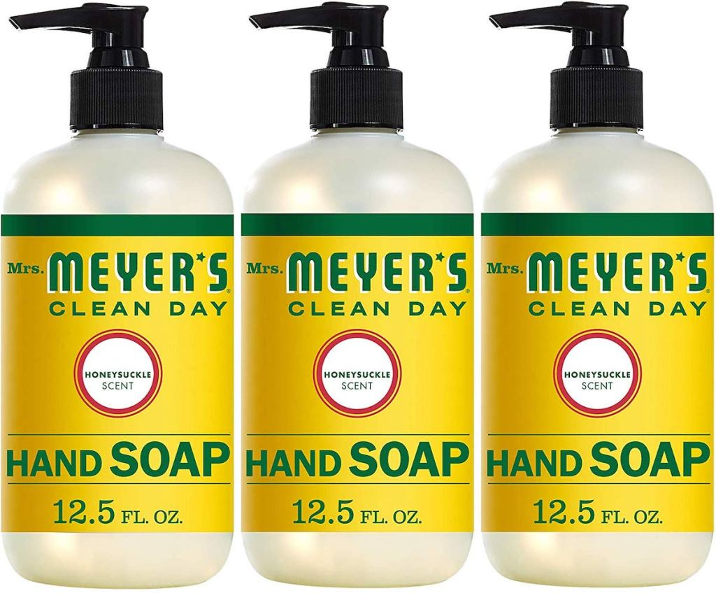 Mrs. Meyer's Clean Day Liquid Hand Soap in honeysuckle scent