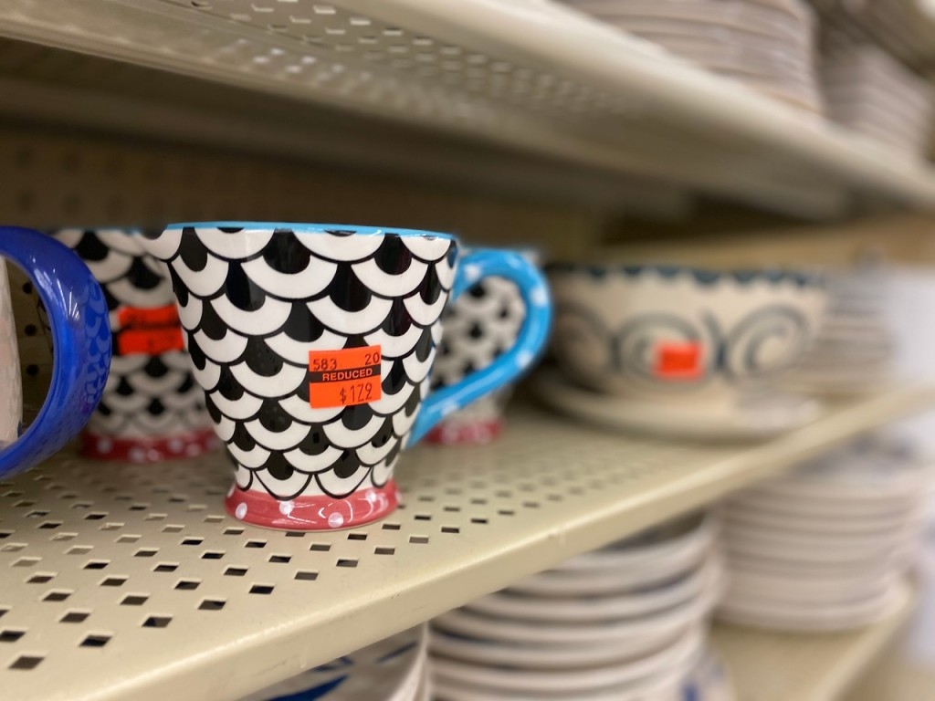 fun mugs on hobby lobby shelf