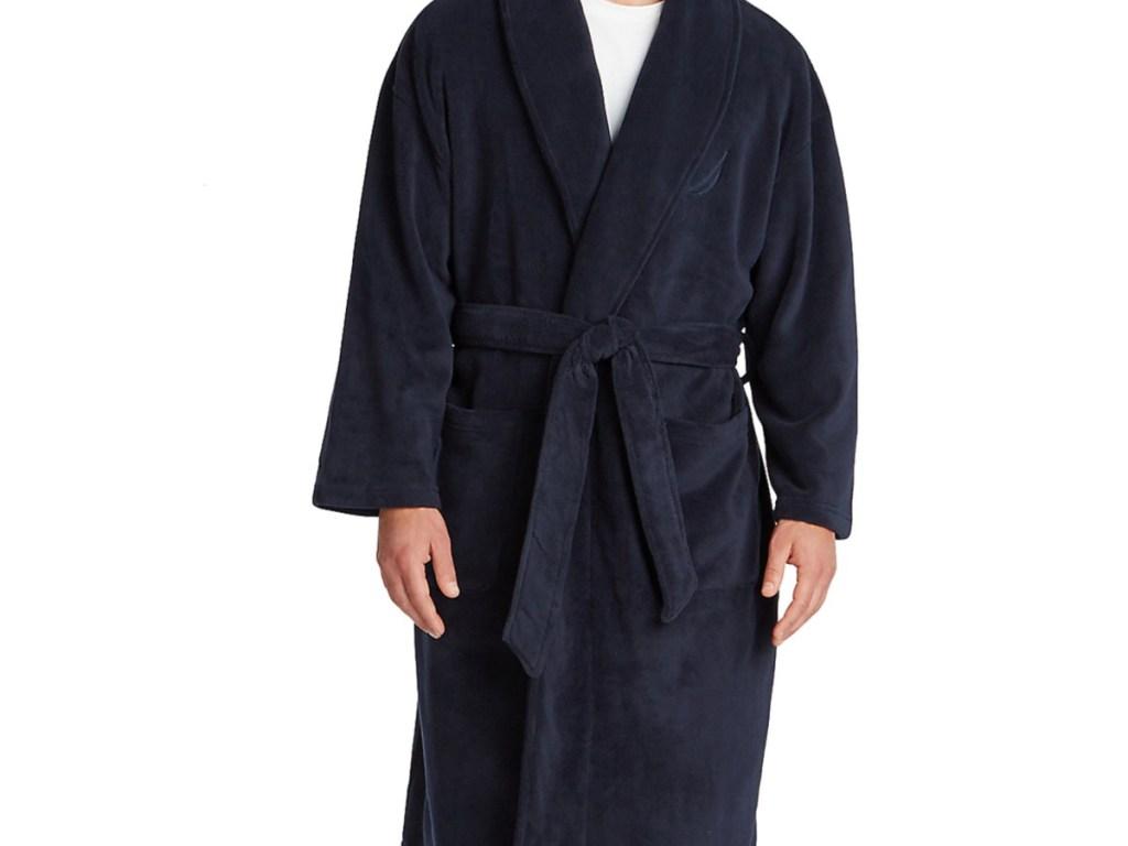 Blue men's robe