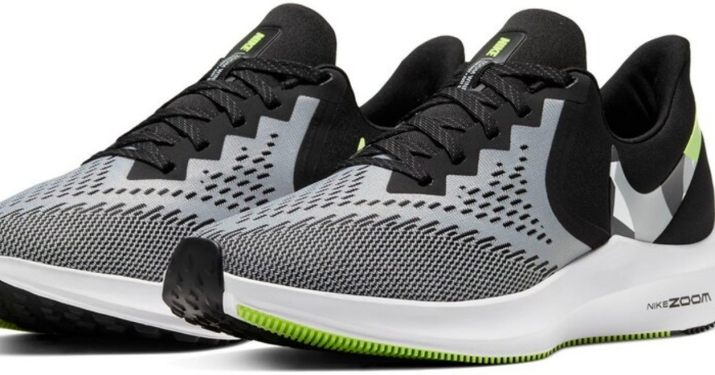 black green and white men's sneakers