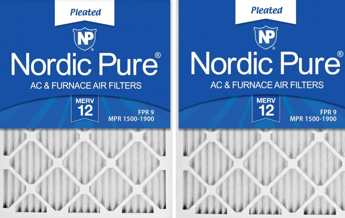 2 packs of nordic pure air filters