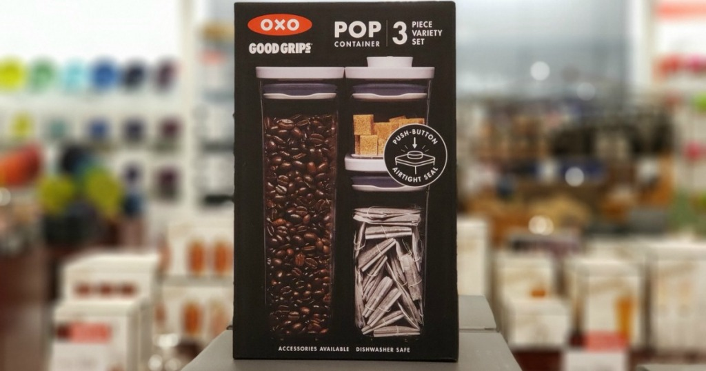 OXO brand storage containers on display
