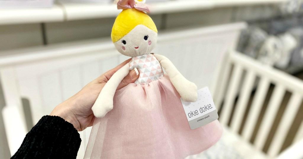 Okie Dokie crinkle plush doll
